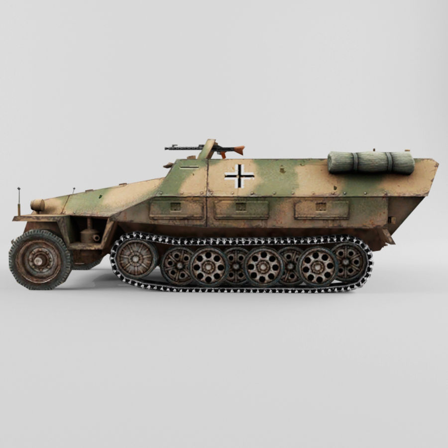 SdKfz 251-D royalty-free 3d model - Preview no. 2