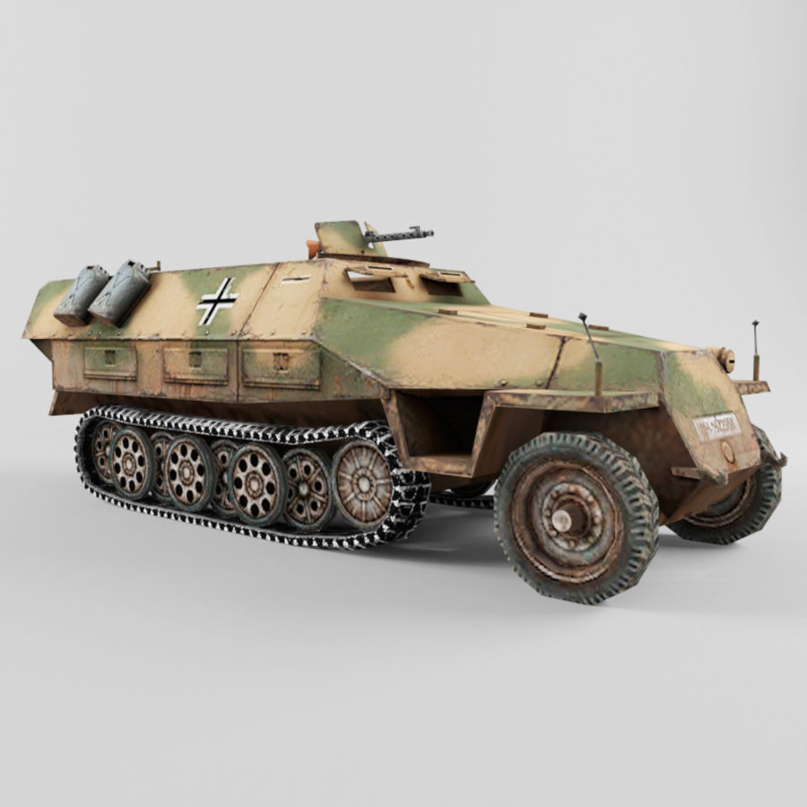 SdKfz 251-D royalty-free 3d model - Preview no. 7