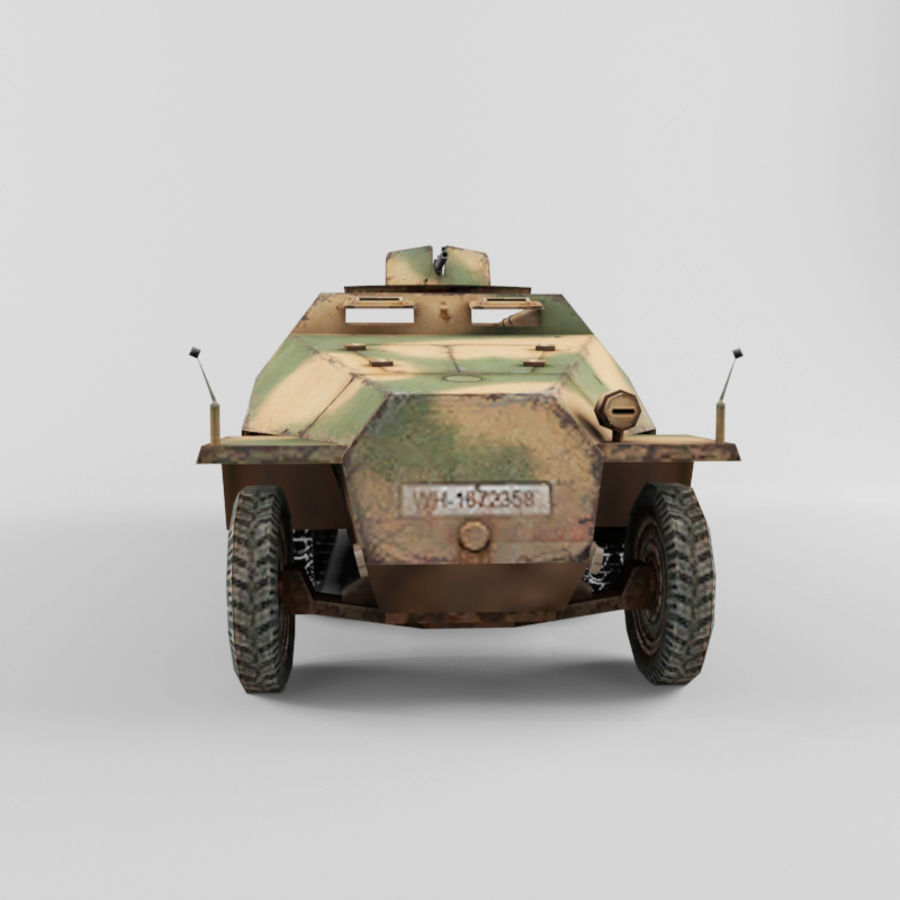 SdKfz 251-D royalty-free 3d model - Preview no. 8