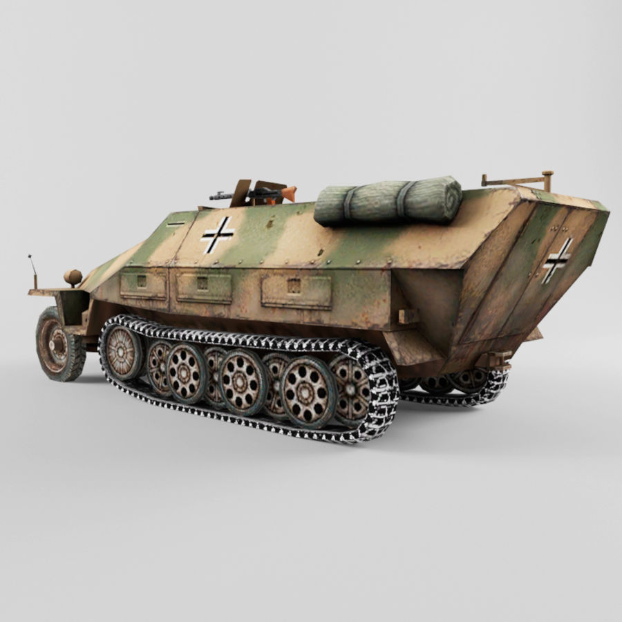 SdKfz 251-D royalty-free 3d model - Preview no. 3