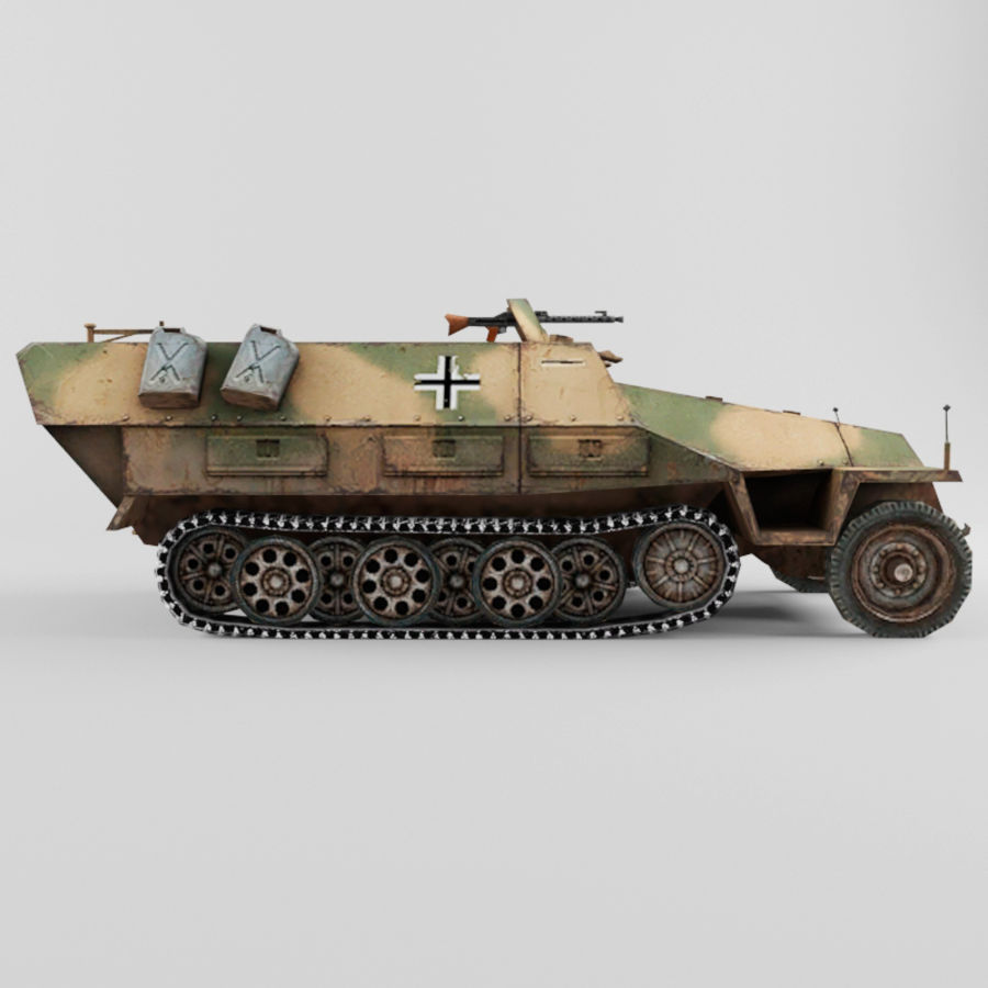 SdKfz 251-D royalty-free 3d model - Preview no. 6