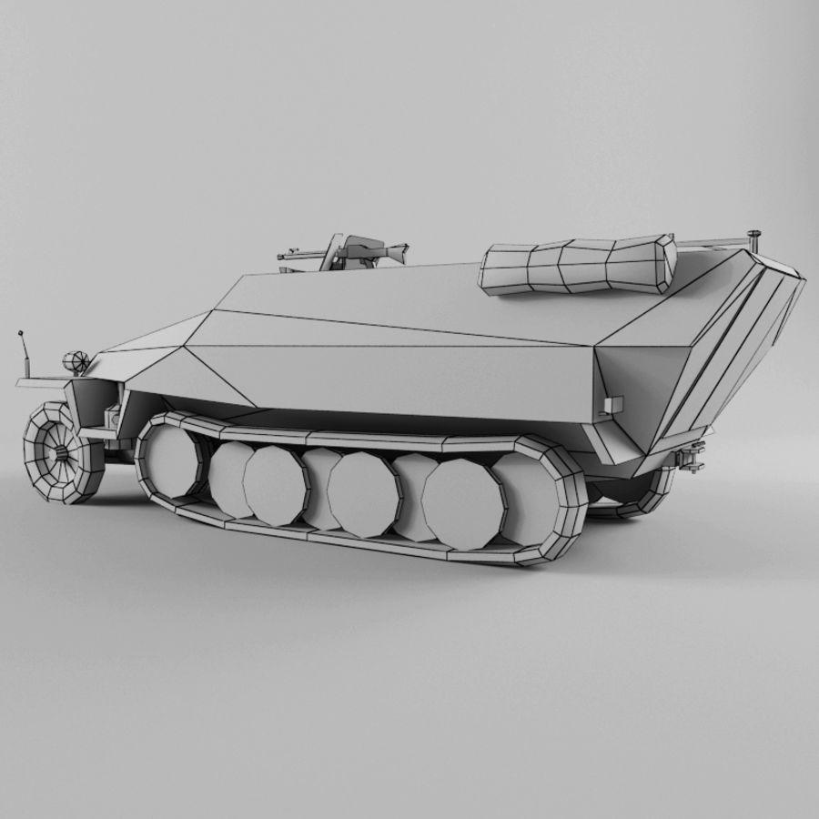SdKfz 251-D royalty-free 3d model - Preview no. 12