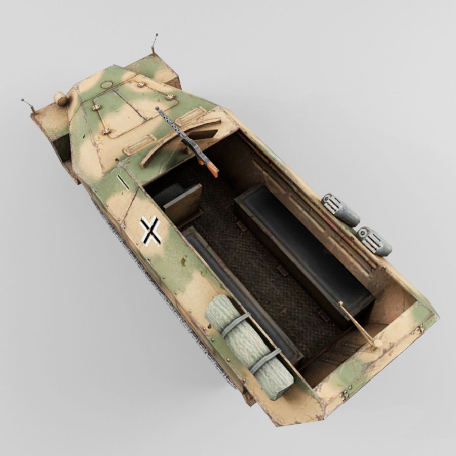 SdKfz 251-D royalty-free 3d model - Preview no. 10