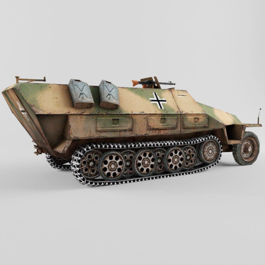 SdKfz 251-D royalty-free 3d model - Preview no. 5