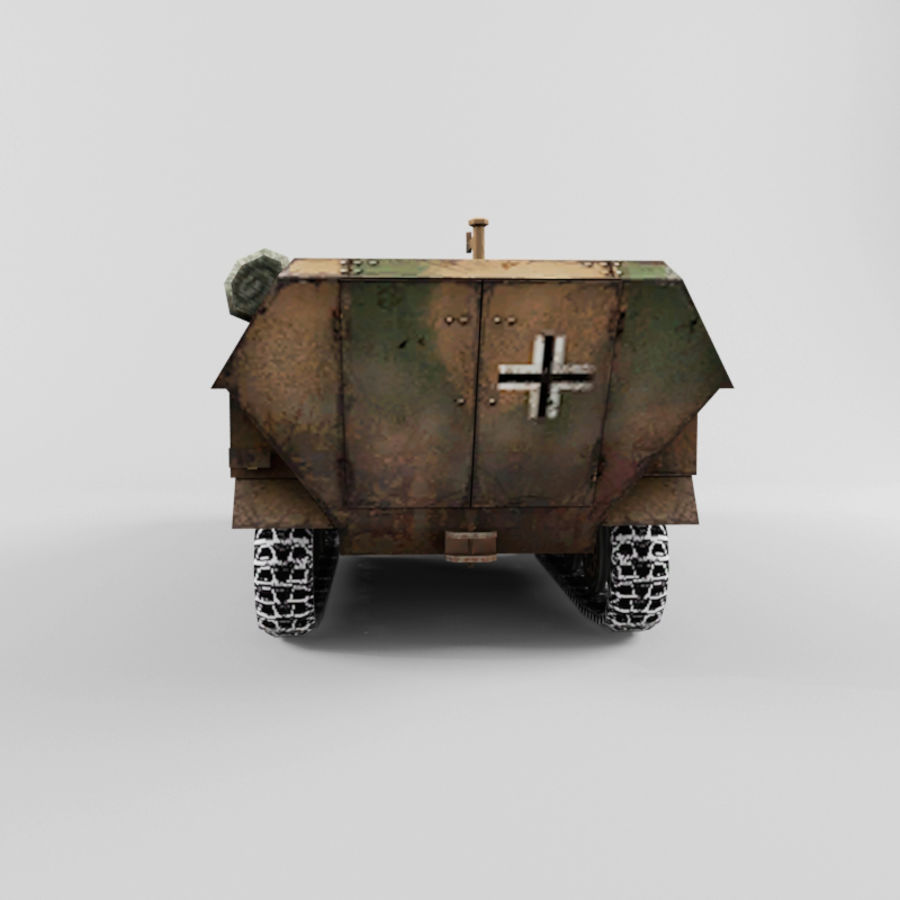 SdKfz 251-D royalty-free 3d model - Preview no. 4