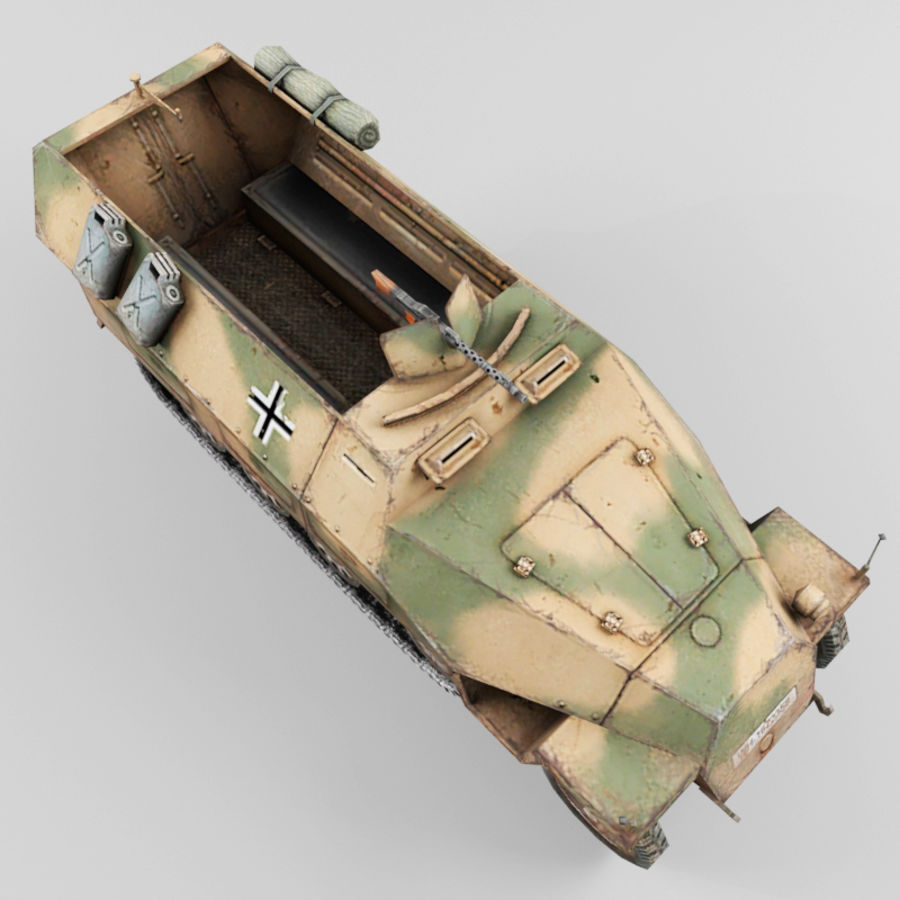 SdKfz 251-D royalty-free 3d model - Preview no. 9