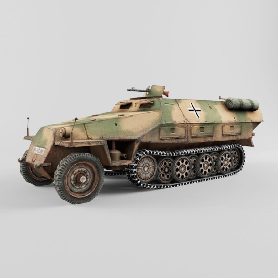 SdKfz 251-D royalty-free 3d model - Preview no. 1