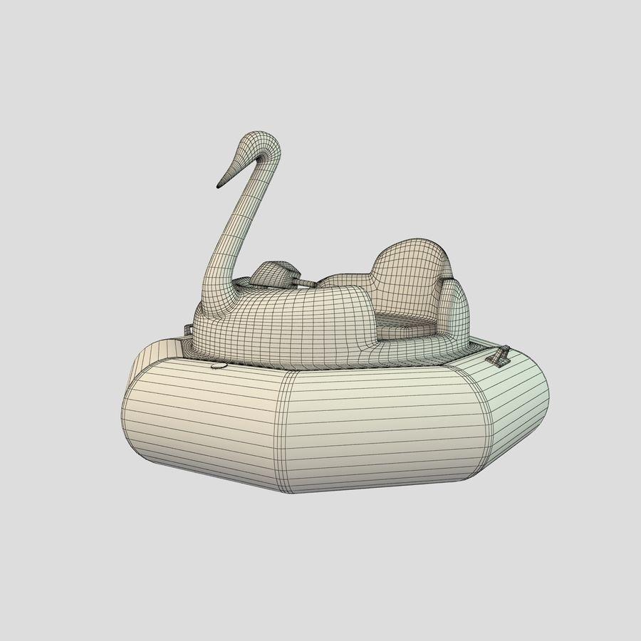 Лодка-лебедь royalty-free 3d model - Preview no. 6