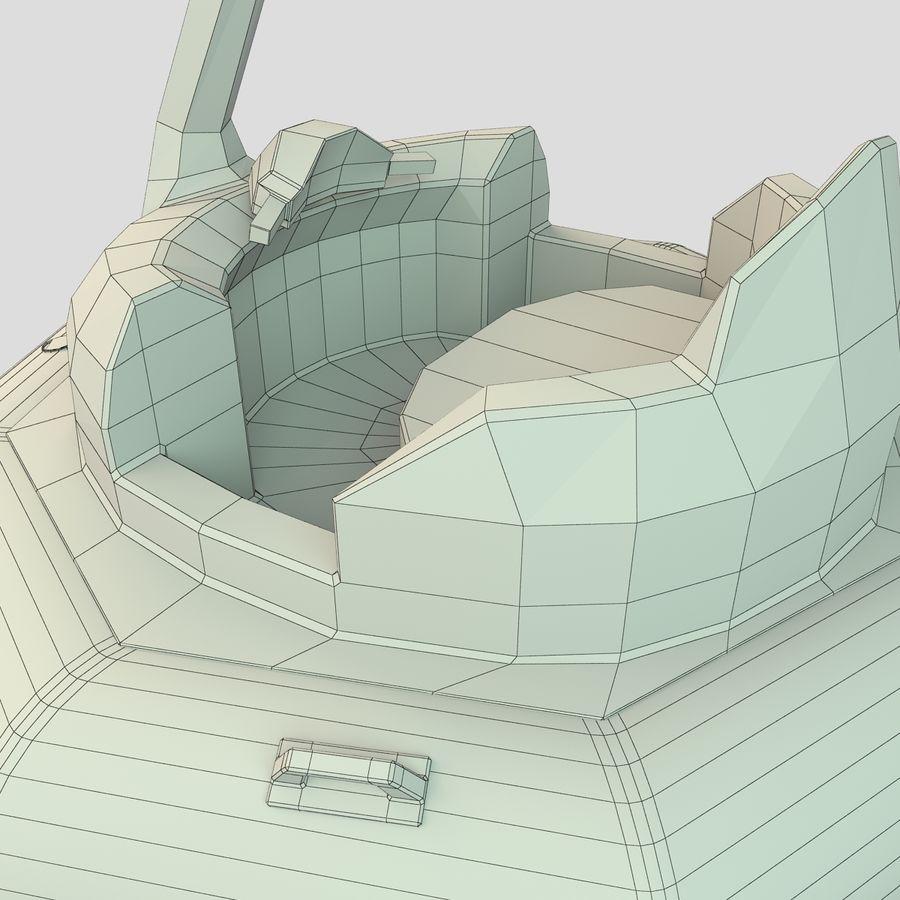 Лодка-лебедь royalty-free 3d model - Preview no. 9