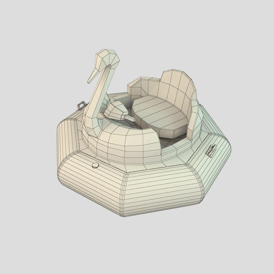 Лодка-лебедь royalty-free 3d model - Preview no. 8