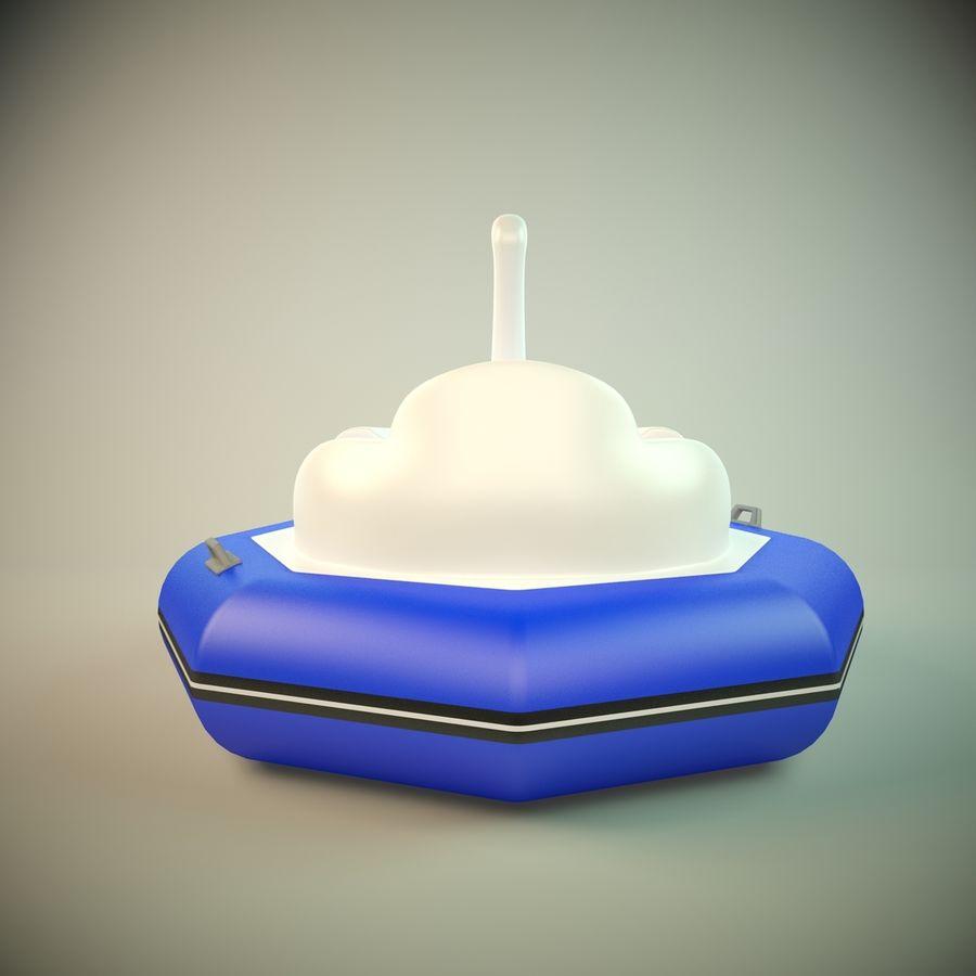 Лодка-лебедь royalty-free 3d model - Preview no. 4
