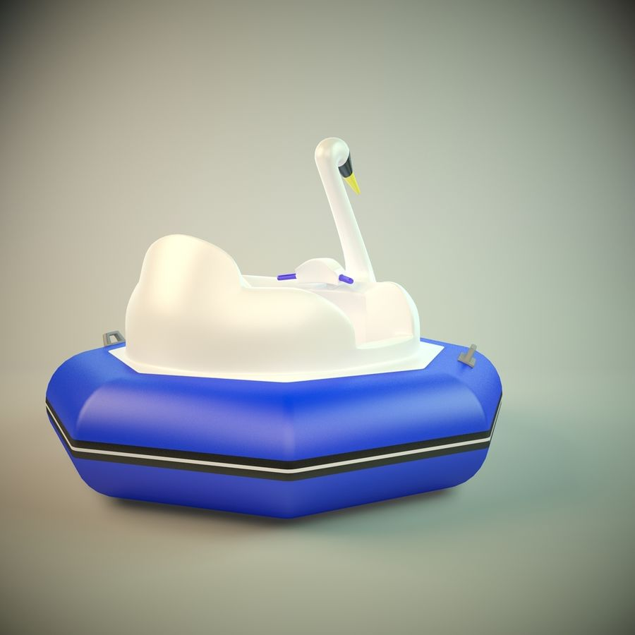 Лодка-лебедь royalty-free 3d model - Preview no. 2