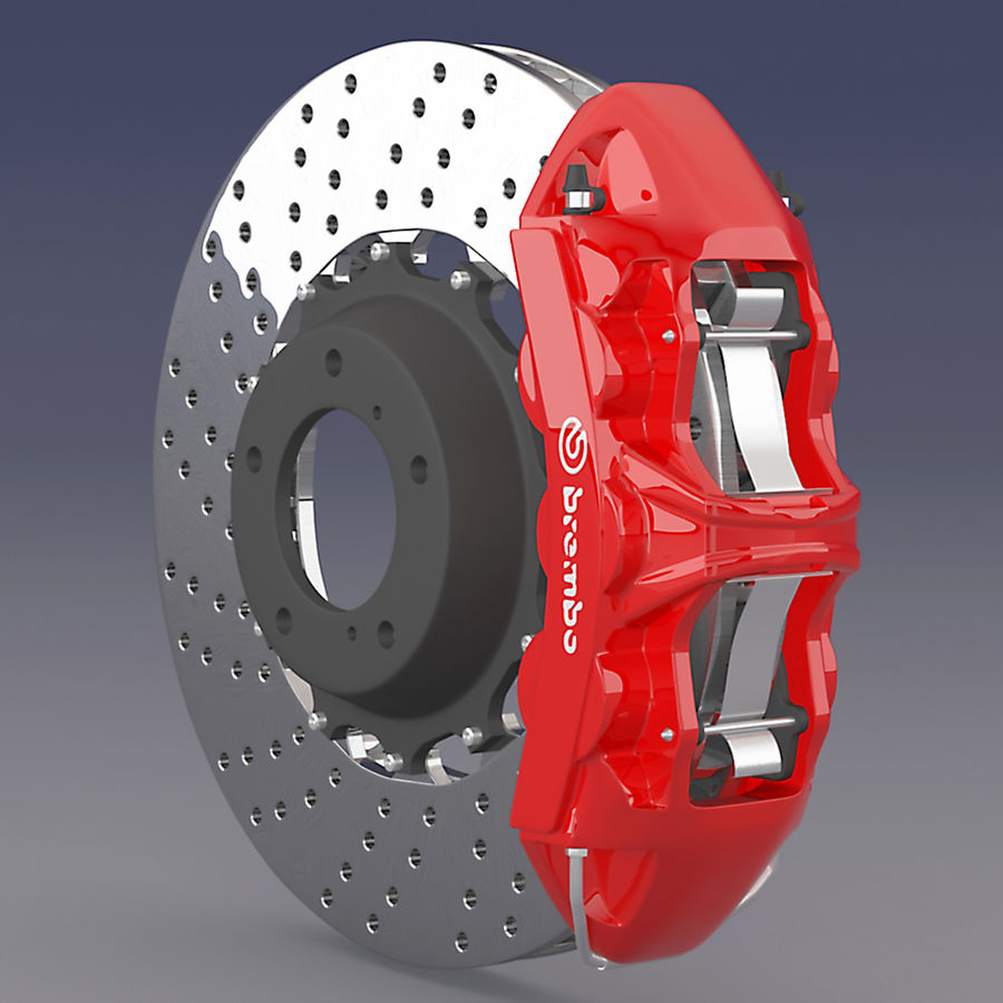 Brembo Brake System royalty-free 3d model - Preview no. 3