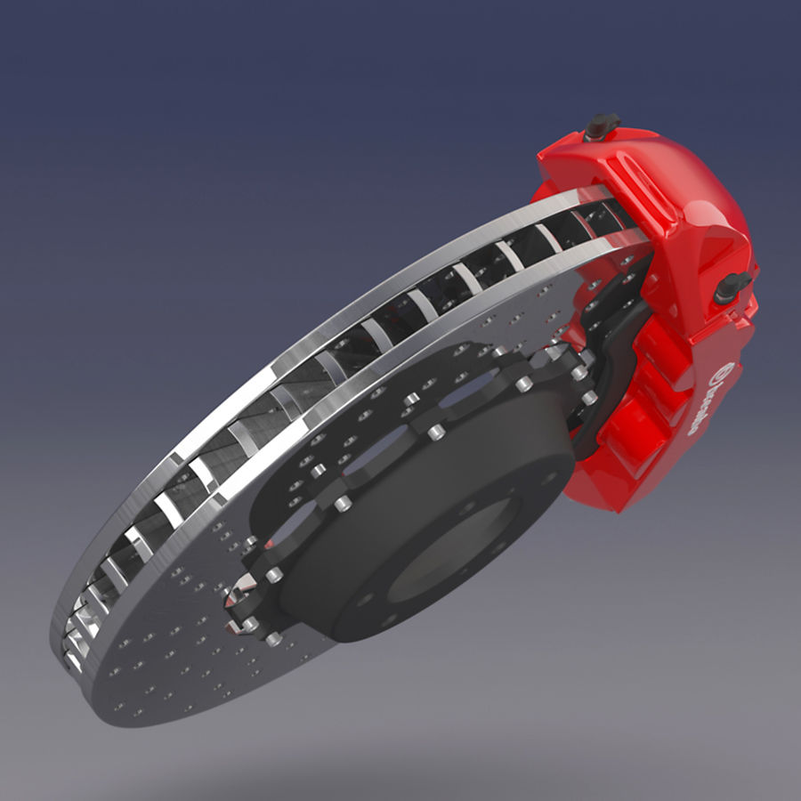 Brembo Brake System royalty-free 3d model - Preview no. 2