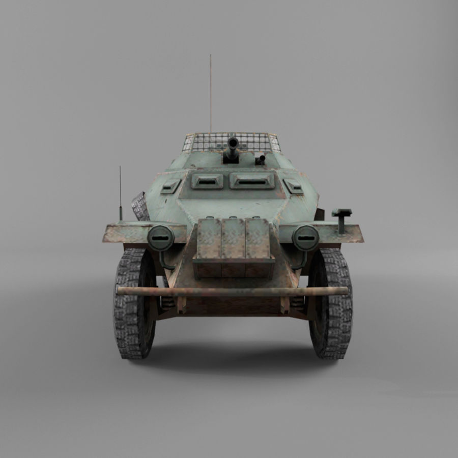 Sdkfz 222 royalty-free 3d model - Preview no. 8