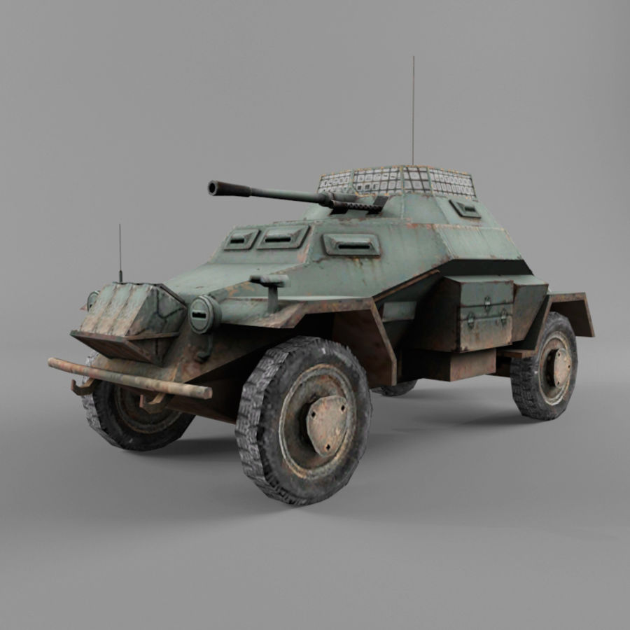 Sdkfz 222 royalty-free 3d model - Preview no. 1
