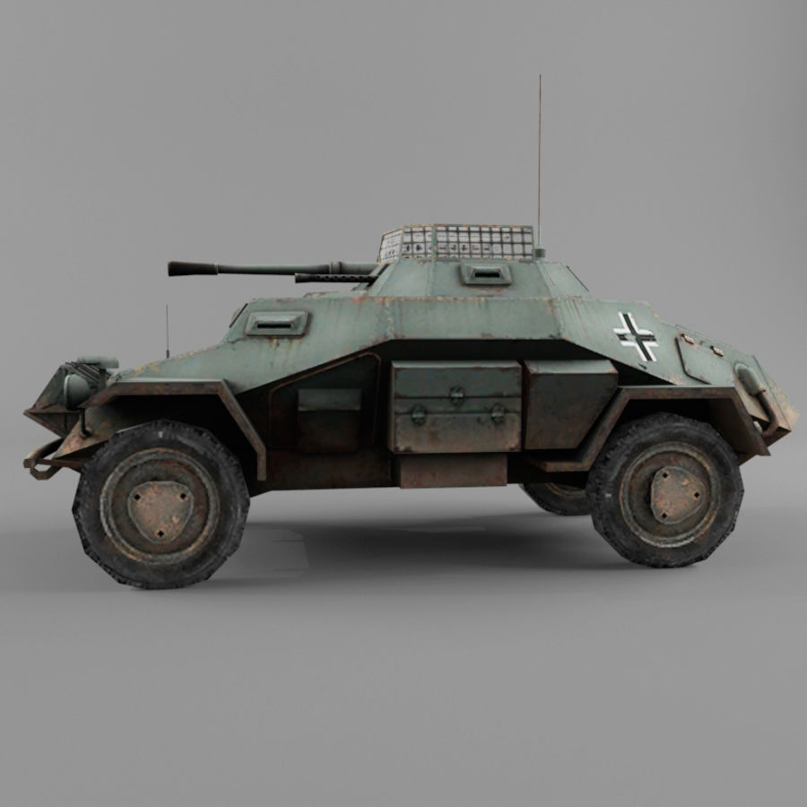 Sdkfz 222 royalty-free 3d model - Preview no. 2