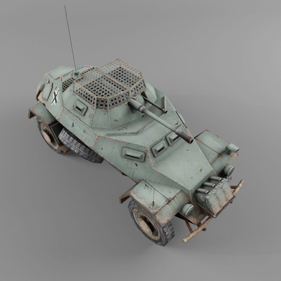 Sdkfz 222 royalty-free 3d model - Preview no. 9