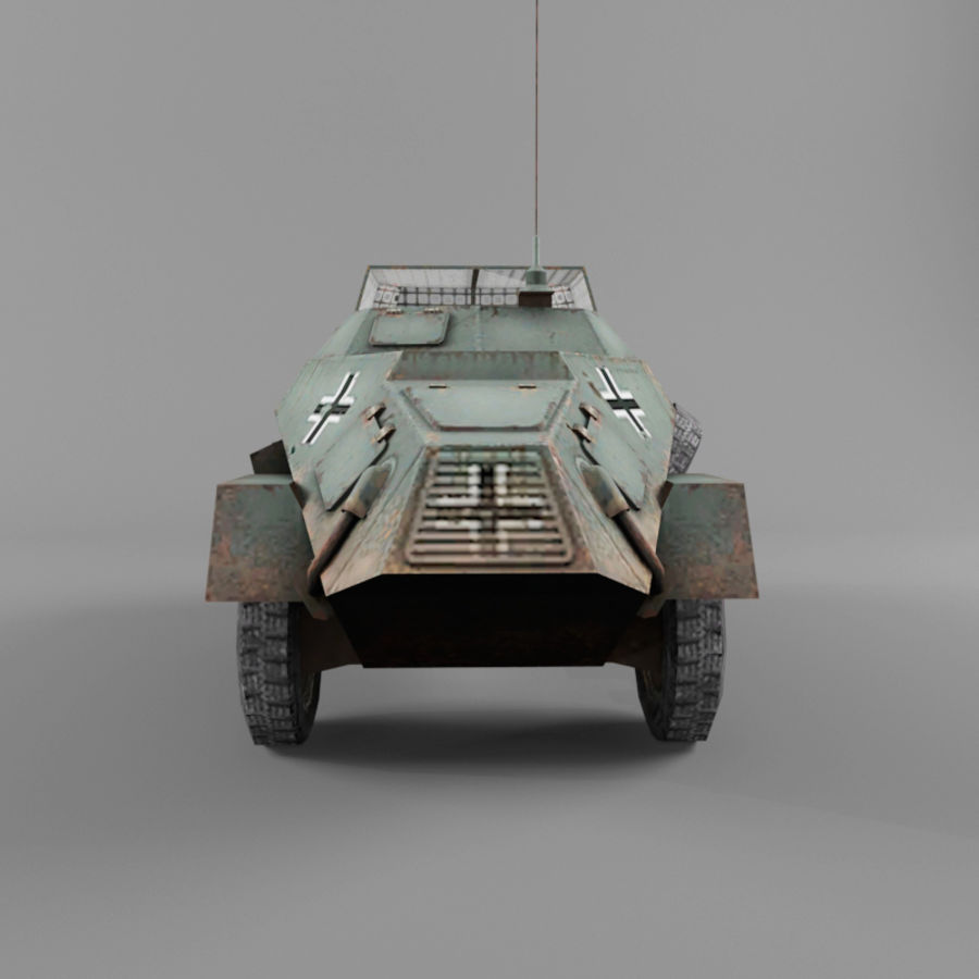Sdkfz 222 royalty-free 3d model - Preview no. 4