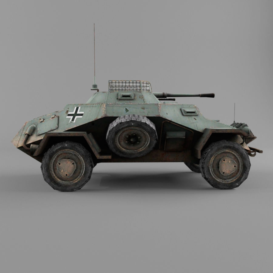 Sdkfz 222 royalty-free 3d model - Preview no. 6