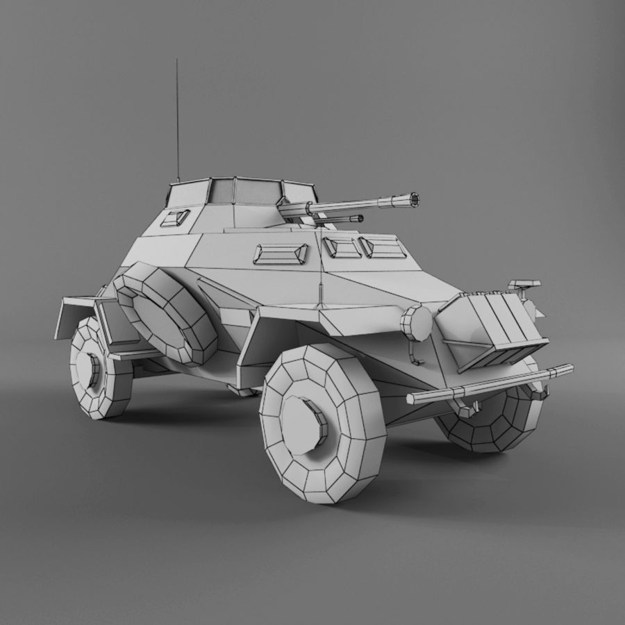 Sdkfz 222 royalty-free 3d model - Preview no. 11