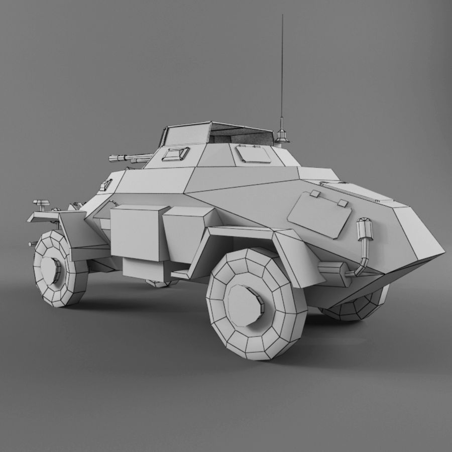 Sdkfz 222 royalty-free 3d model - Preview no. 12