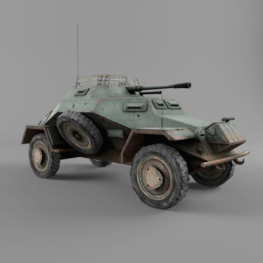 Sdkfz 222 royalty-free 3d model - Preview no. 7