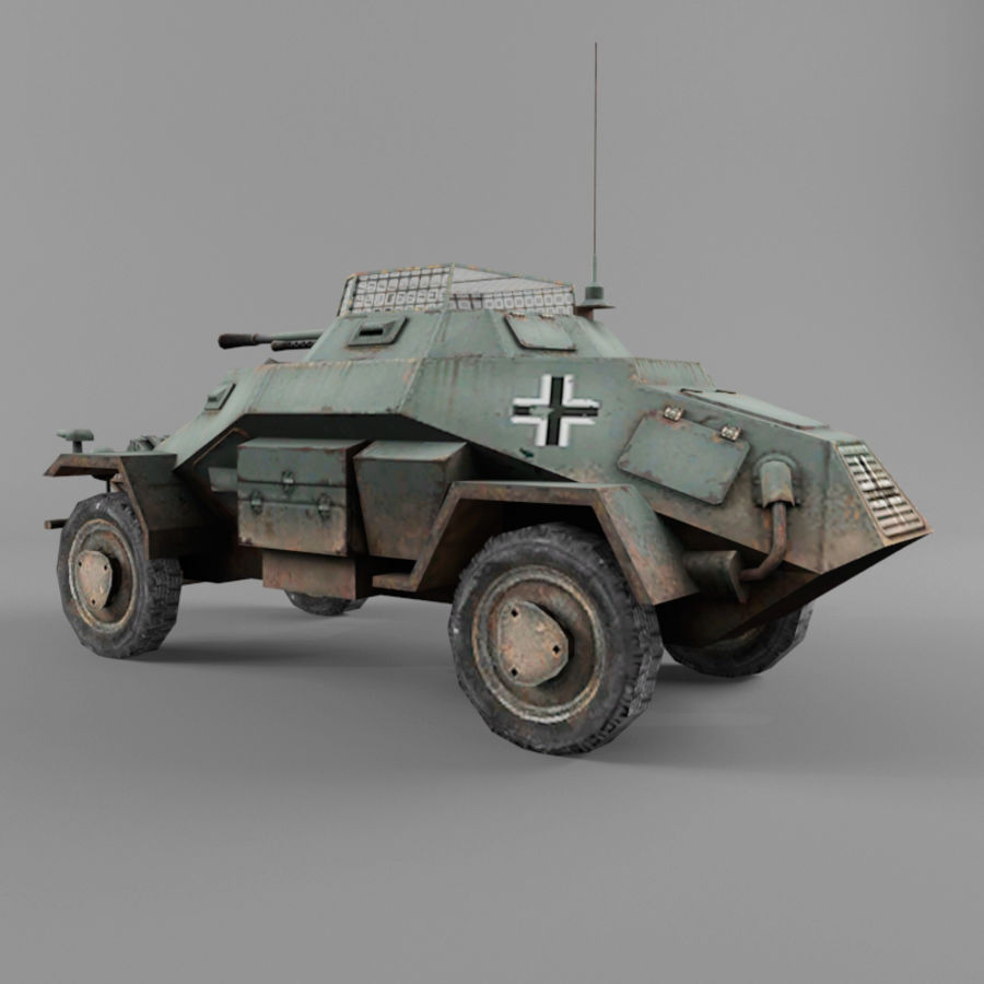 Sdkfz 222 royalty-free 3d model - Preview no. 3