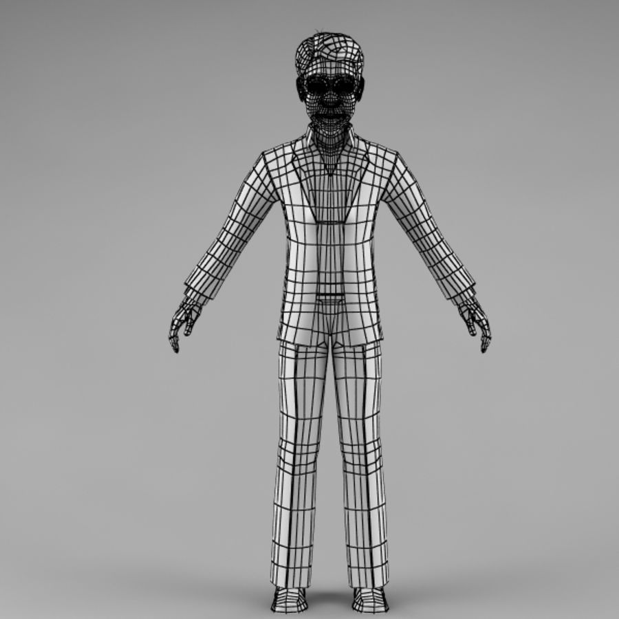 Character Man 02 royalty-free 3d model - Preview no. 11