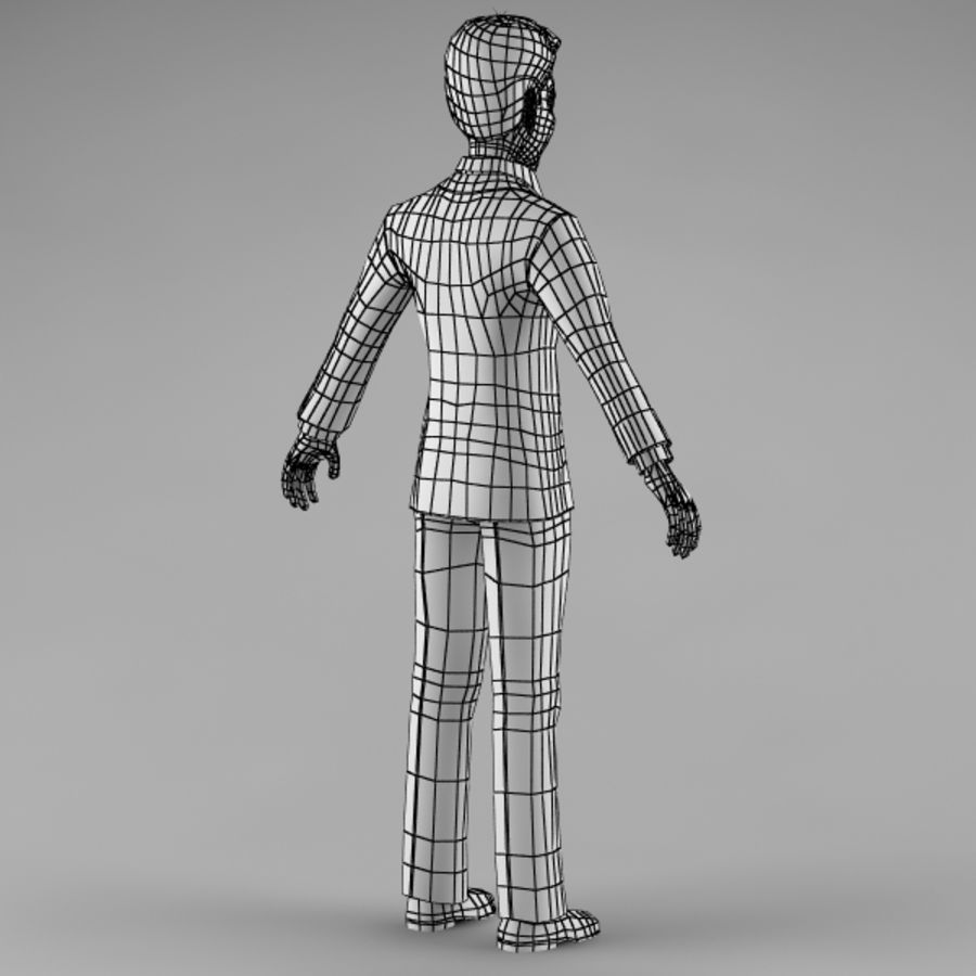 Character Man 02 royalty-free 3d model - Preview no. 12