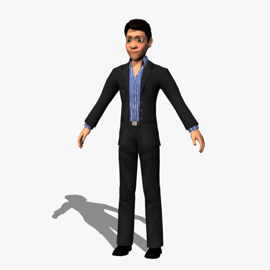 Character Man 02 royalty-free 3d model - Preview no. 4