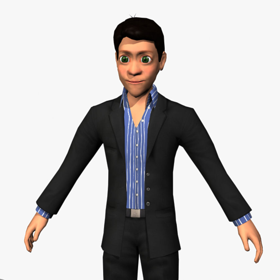 Character Man 02 royalty-free 3d model - Preview no. 3