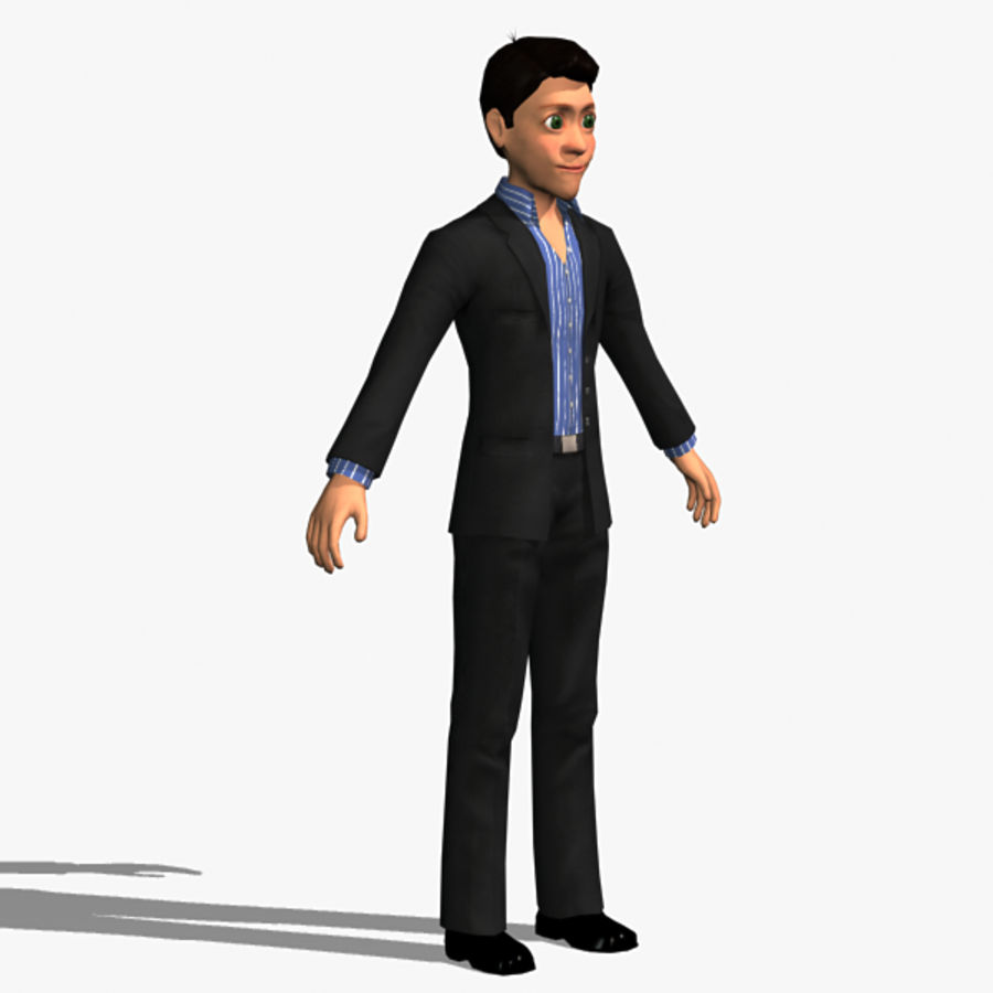Character Man 02 royalty-free 3d model - Preview no. 1