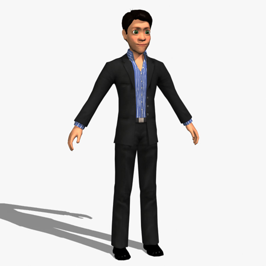 Character Man 02 royalty-free 3d model - Preview no. 2