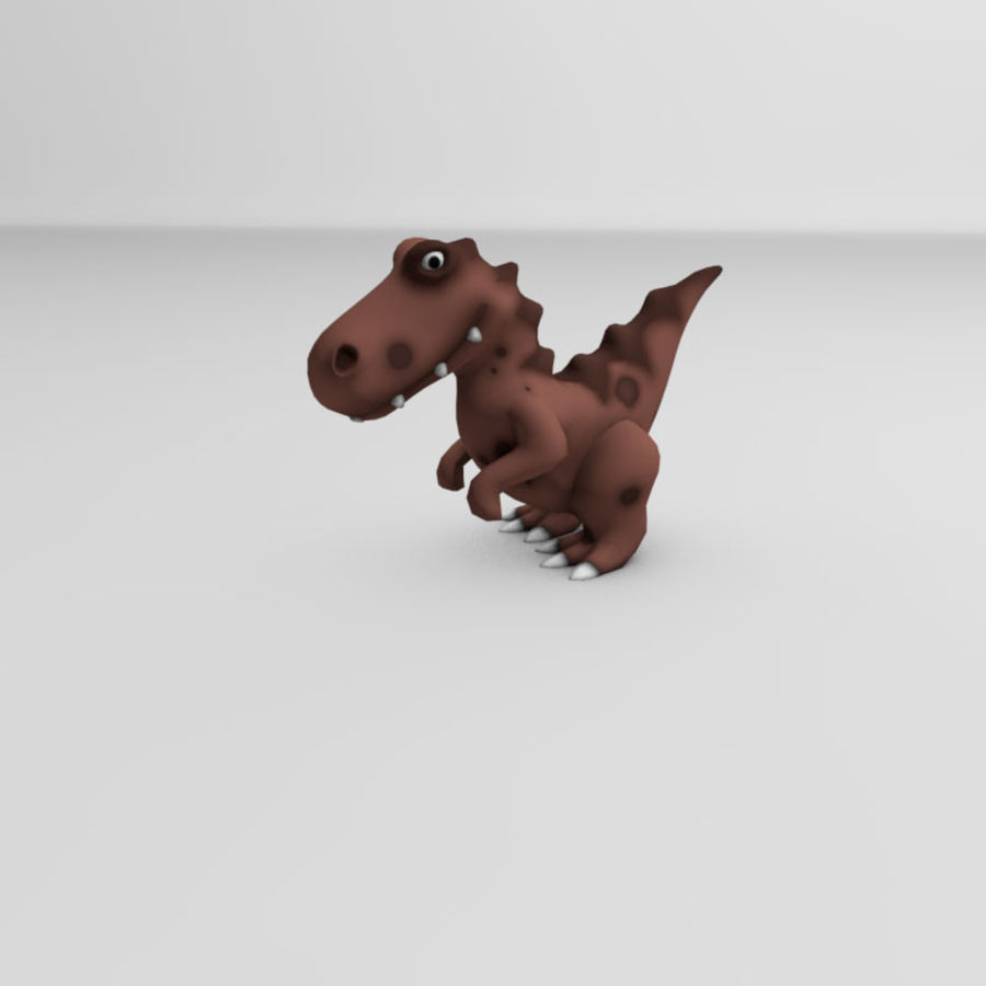 Cartoon dinosaur Velociraptor royalty-free 3d model - Preview no. 4