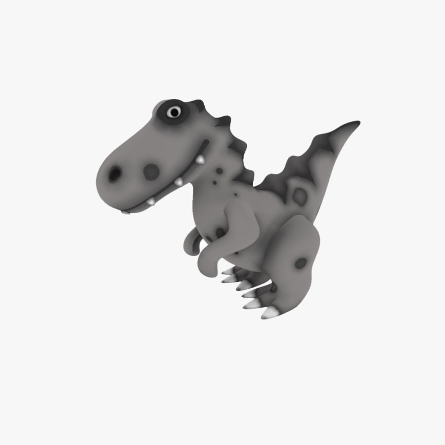Cartoon dinosaur Velociraptor royalty-free 3d model - Preview no. 1