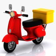 Cartoon Delivery Motorcycle 3d model