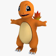 Low Poly Charmander Pokemon 3d model