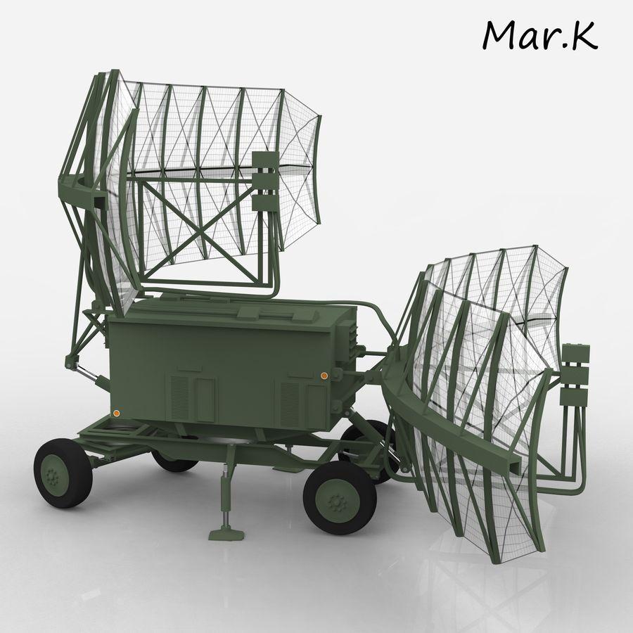 Radar P-37 royalty-free 3d model - Preview no. 7