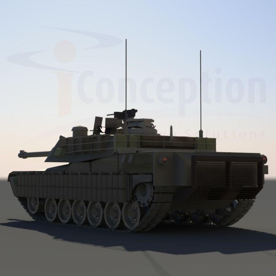 M1A2 Abrams tank royalty-free 3d model - Preview no. 1