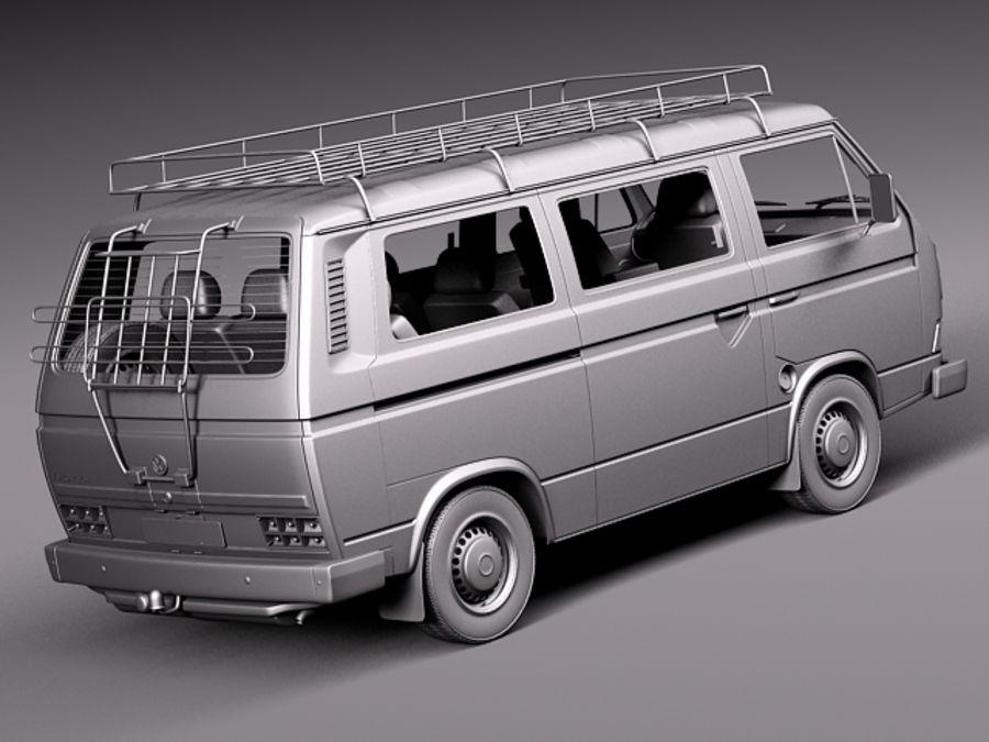 Volkswagen T3 Passenger 1979 1988 3d Model 129 Obj Max Lwo Fbx C4d 3ds Free3d