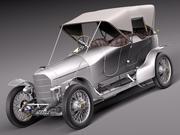 Austro Daimler Prince Henry 1910 3d model