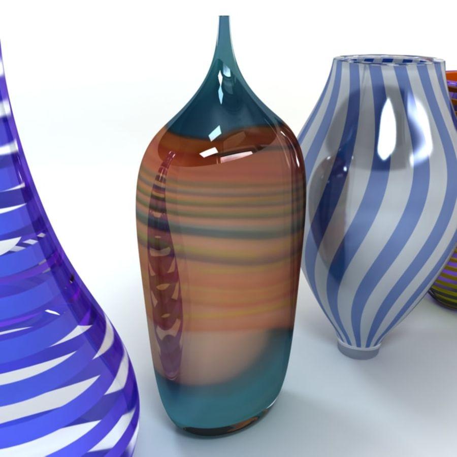 アートガラス花瓶 royalty-free 3d model - Preview no. 5