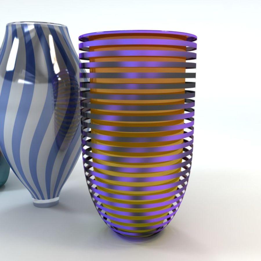 アートガラス花瓶 royalty-free 3d model - Preview no. 4