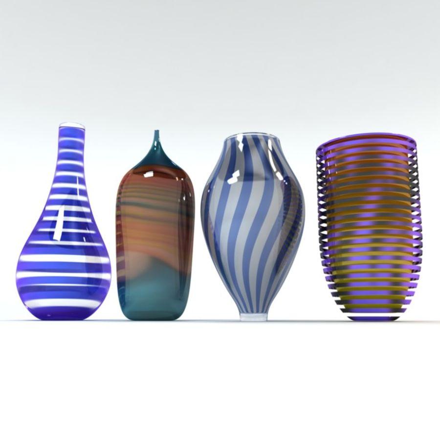 アートガラス花瓶 royalty-free 3d model - Preview no. 6