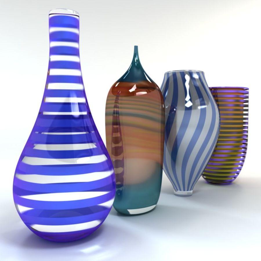 アートガラス花瓶 royalty-free 3d model - Preview no. 3