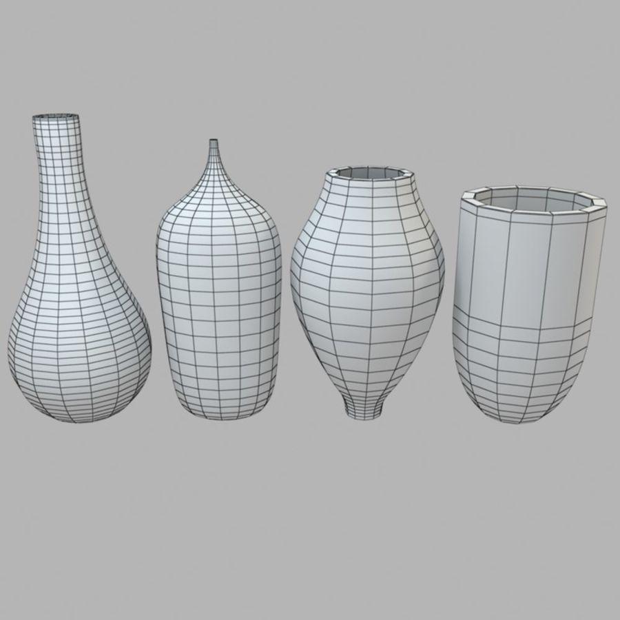 アートガラス花瓶 royalty-free 3d model - Preview no. 8