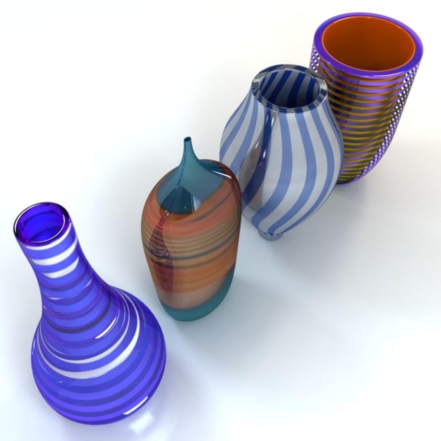 アートガラス花瓶 royalty-free 3d model - Preview no. 7