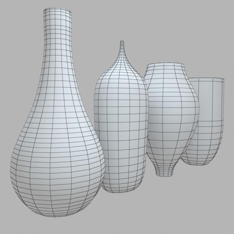 アートガラス花瓶 royalty-free 3d model - Preview no. 9