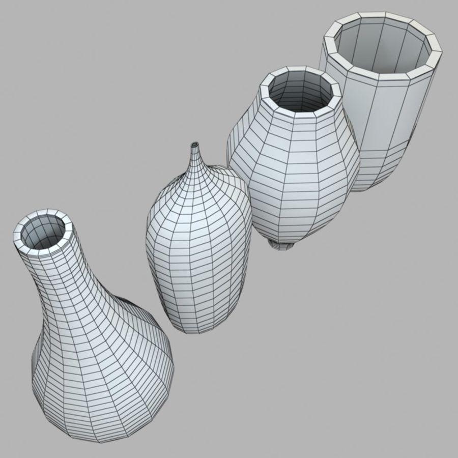 アートガラス花瓶 royalty-free 3d model - Preview no. 10